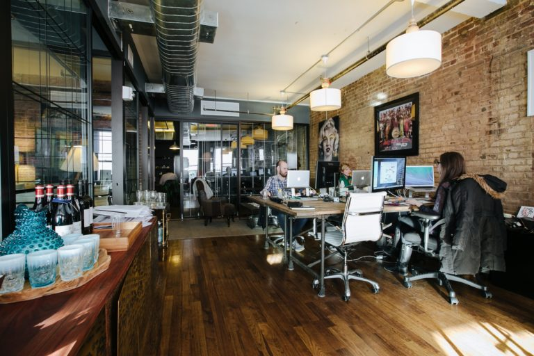 Creative office space, WeWork